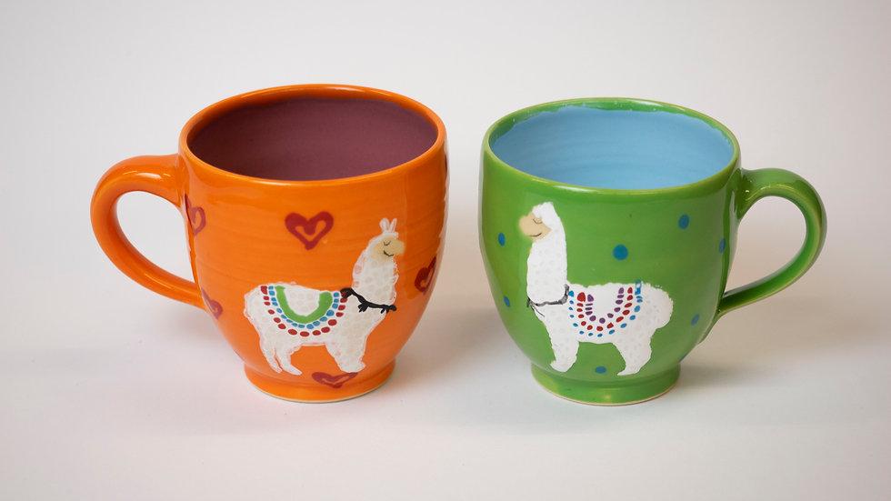 Set - zwei Lama-Tassen