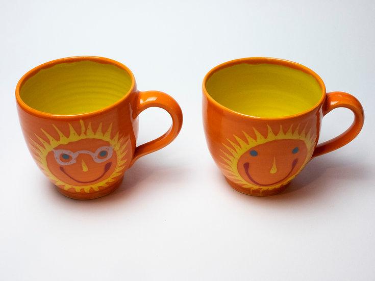Set - 2 Tassen Sonne orange