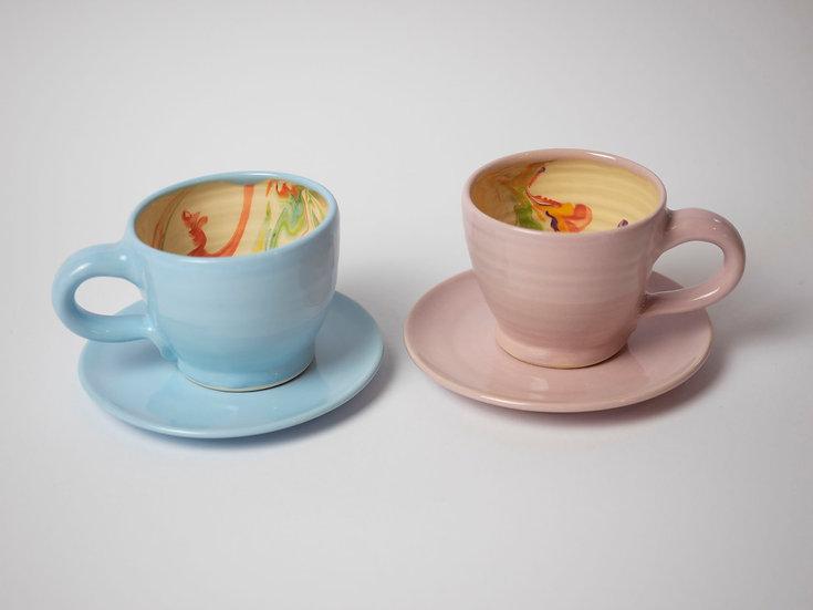 Espresso Set, 2-teilig marmoriert