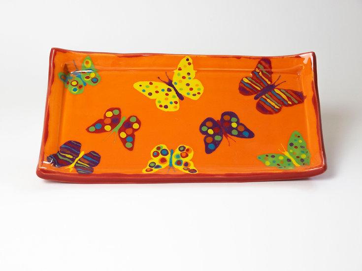 Platte mit Schmetterlingen