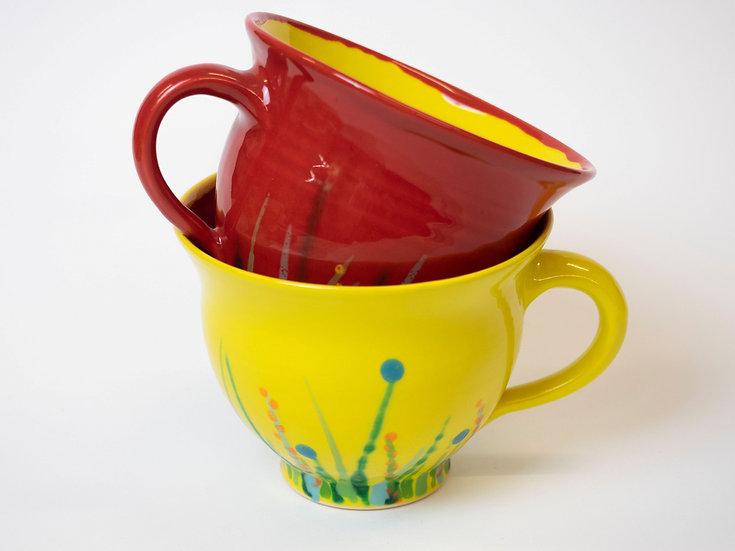 Set - Wildwuchs-Tassen rot/gelb