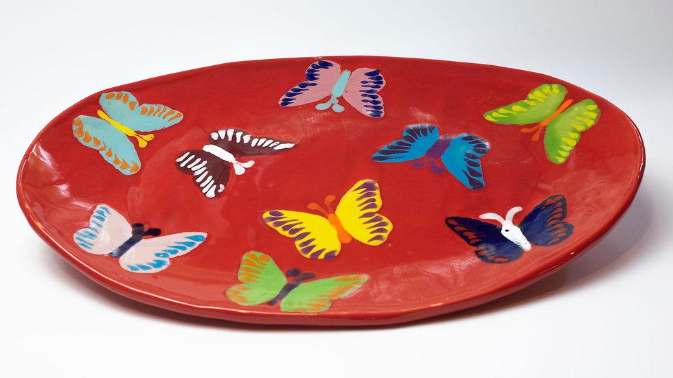 Ovale Platte - Schmetterling Design