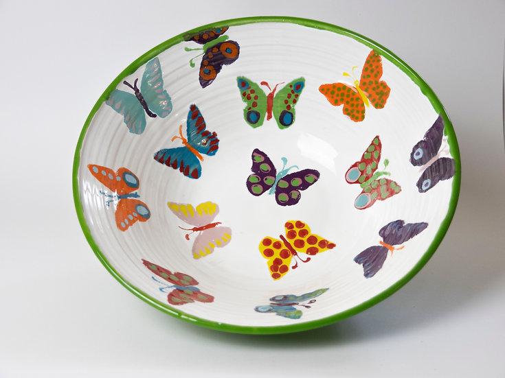Schüssel - weiß mit Schmetterlingen