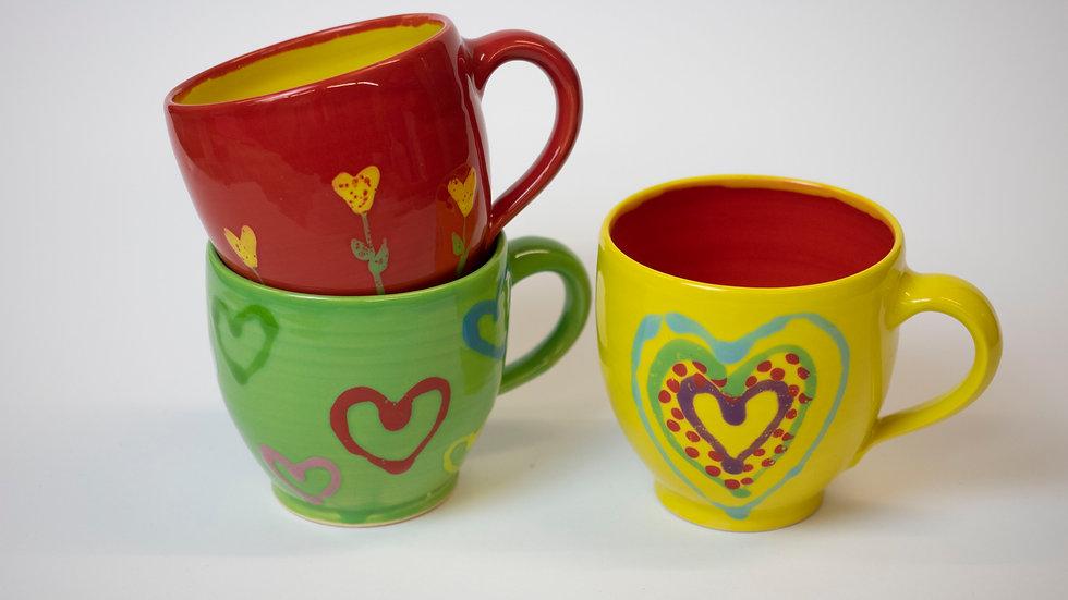 Set - Drei bunte Tassen