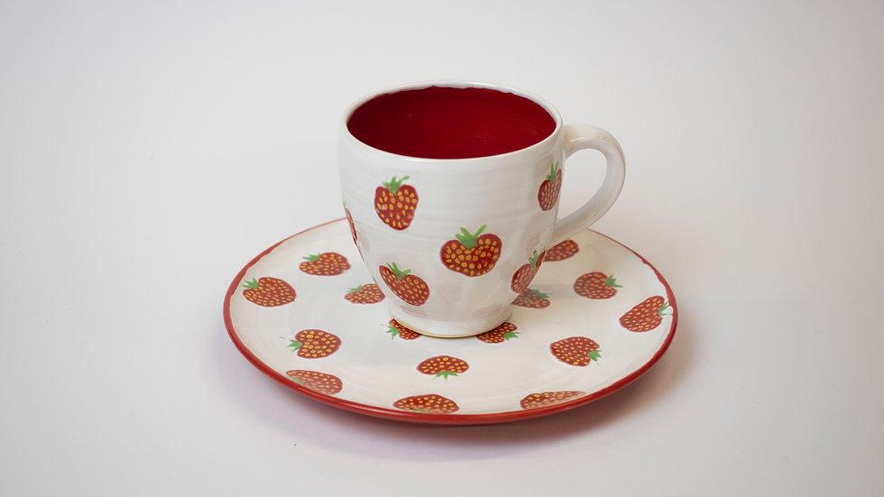 Set - Erdbeer, weiß