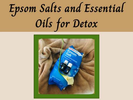 Epsom Salts and Essential Oils for Detox
