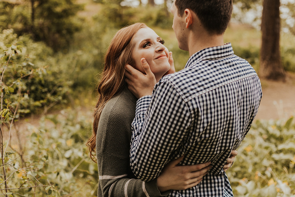 forest couples session in coeur d'alene idaho