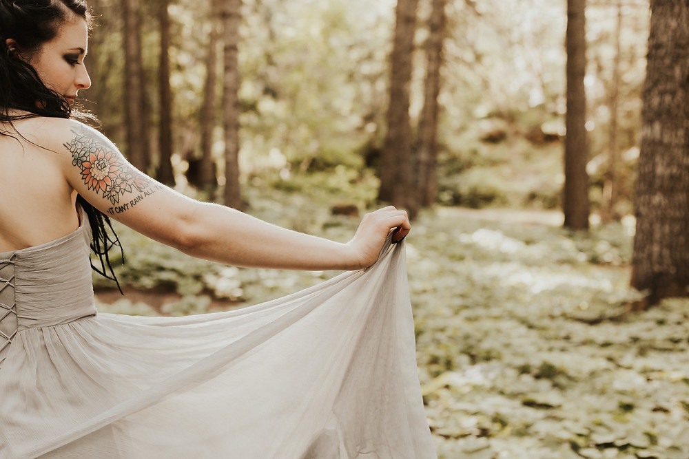 forest bridals under the trees