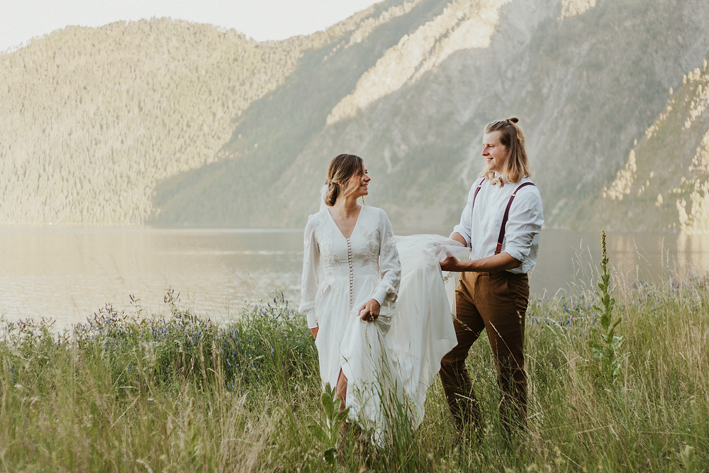 adventure bridals in the mountains
