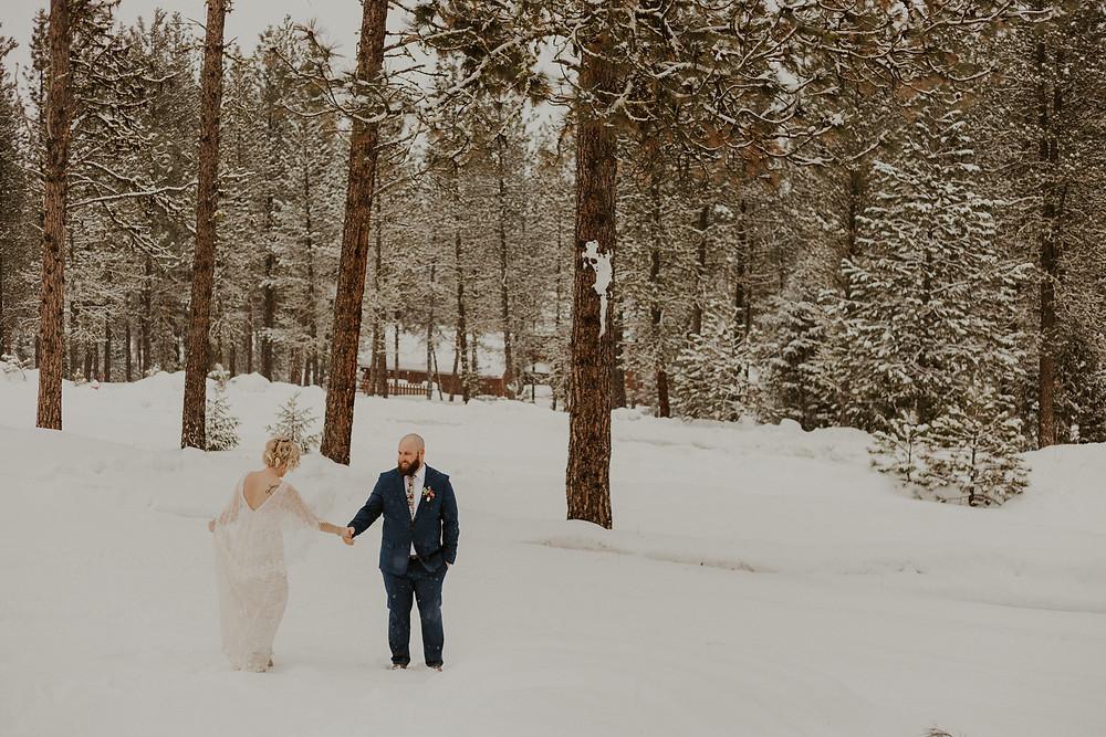 winter wonderland elopement in mccall idaho