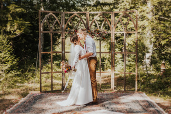 Intimate Backyard Wedding in Bonner's Ferry
