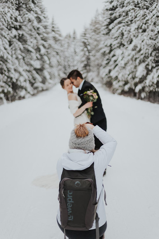 winter elopement photography