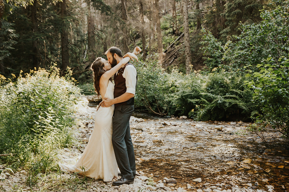 adventure bridals in the forest
