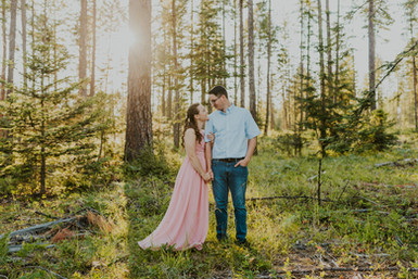 Golden Hour In The Forest   Megan & Colton