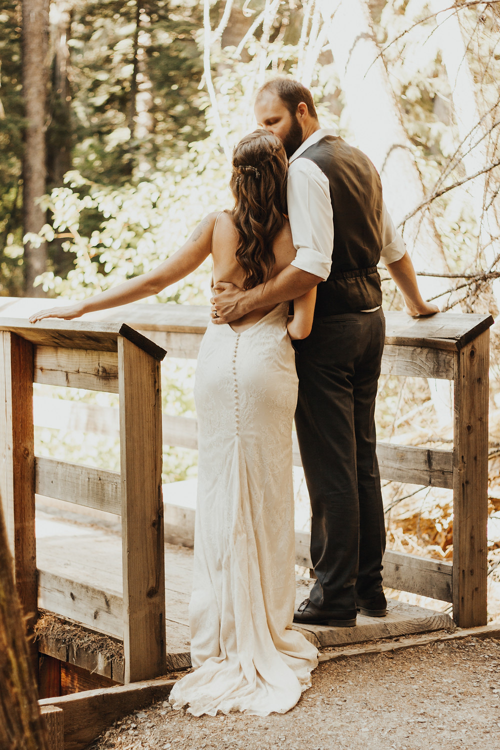 forest wedding on the coeur d'alene river idaho