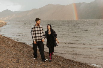 Chasing Rainbows by the Lake | Farragut Engagements