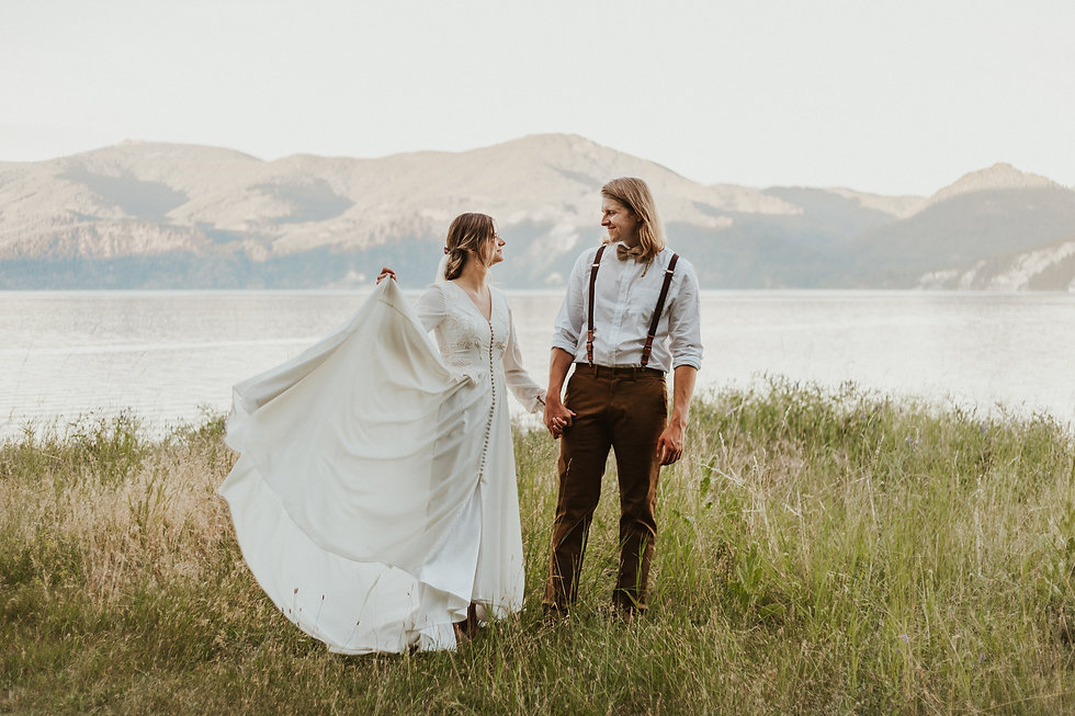 adventure bridals in the idaho mountains
