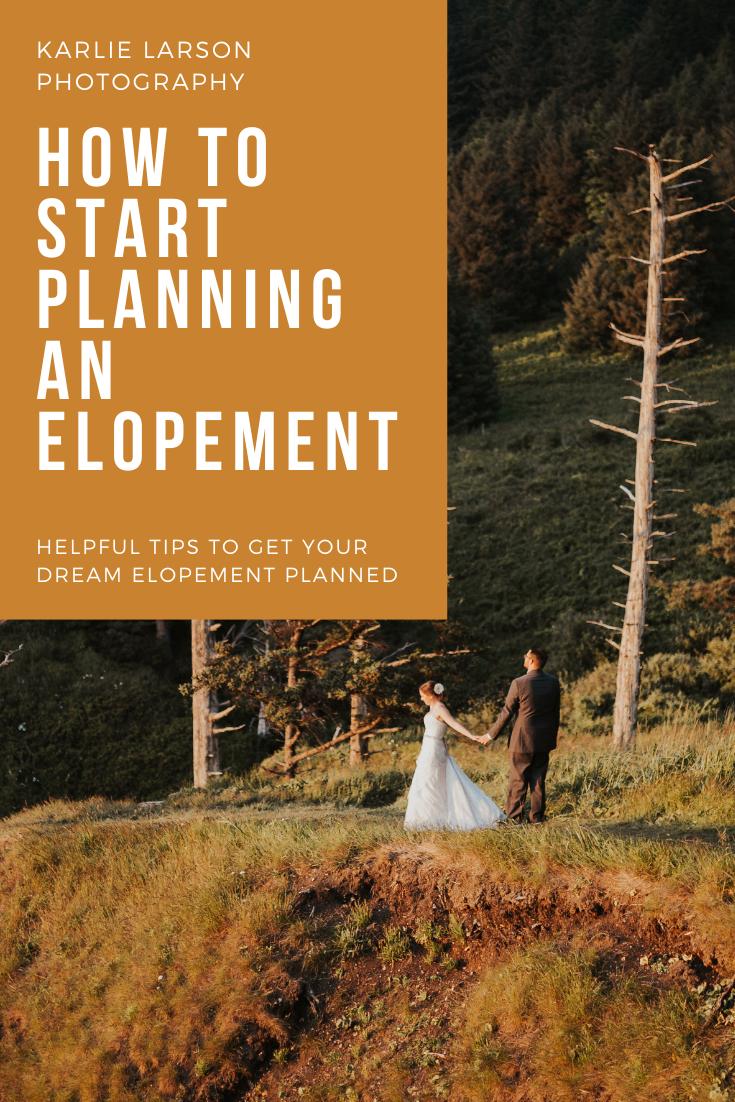 how to start planning an elopement, adventure elopement