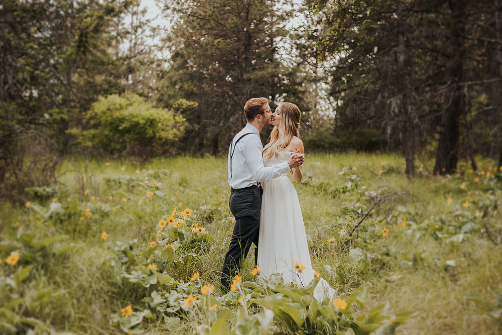 idaho mountain adventure elopement bridals
