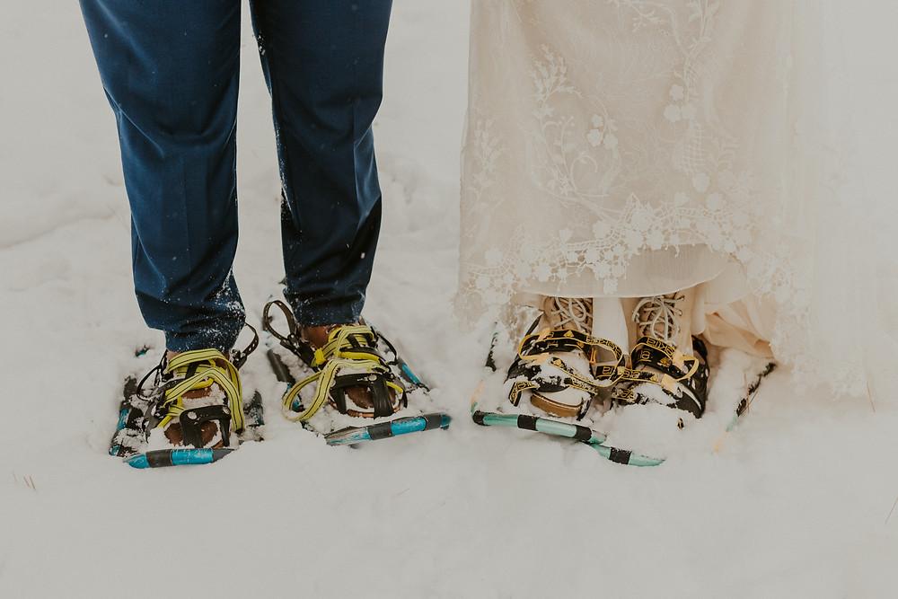 winter wonderland elopement in mccall idaho winter bridals