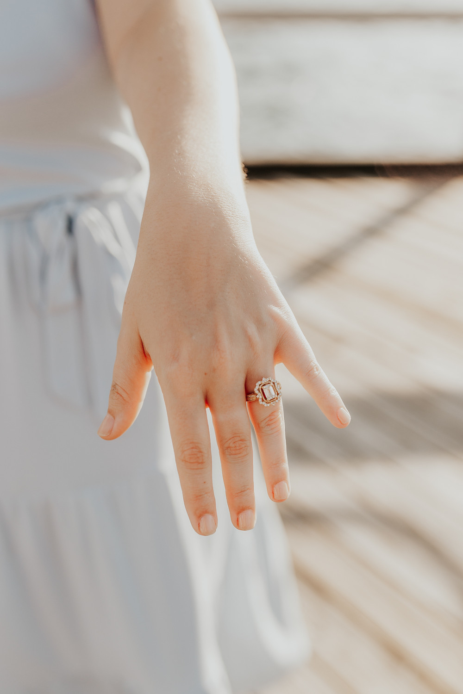 Ring Detail Shot Proposal Photoshoot in North Idaho