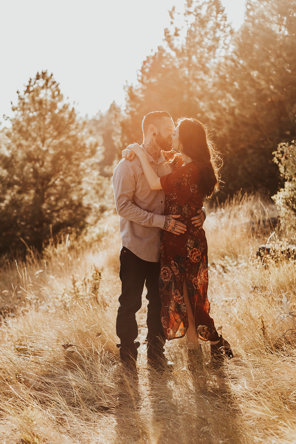 golden hour couples photos