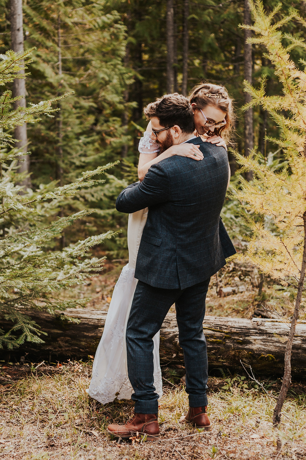 sandpoint idaho mountain forest elopement photography