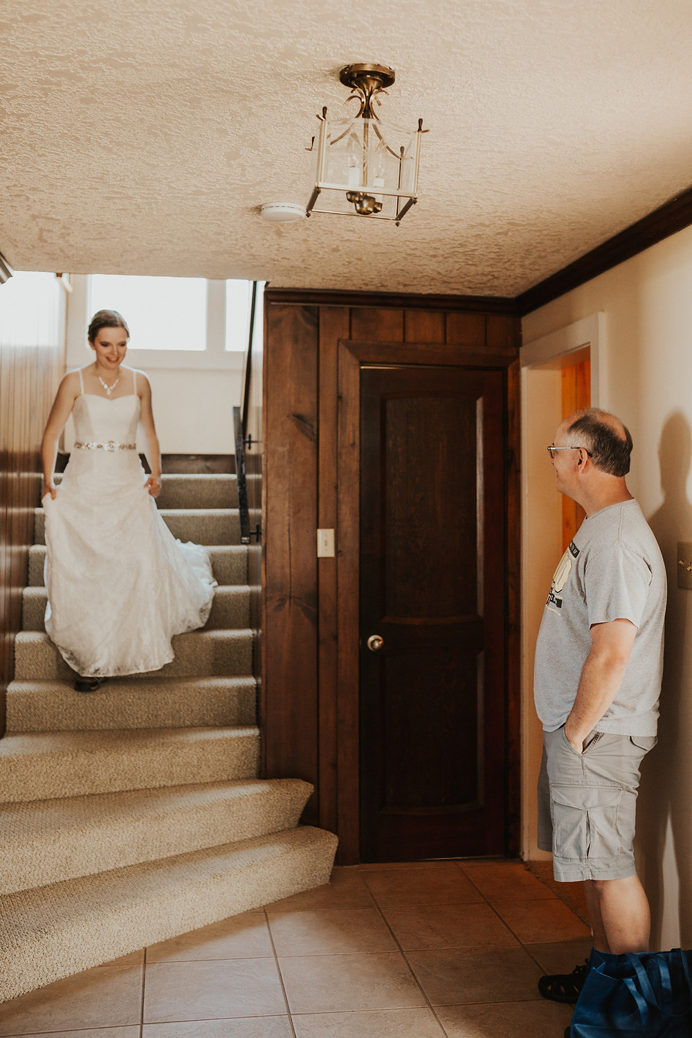 first look with bridesmaids and family for oregon elopement