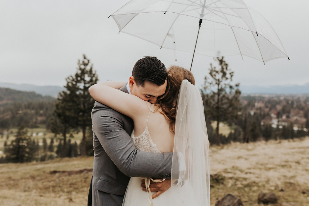 rainy elopement day on the mountain photography