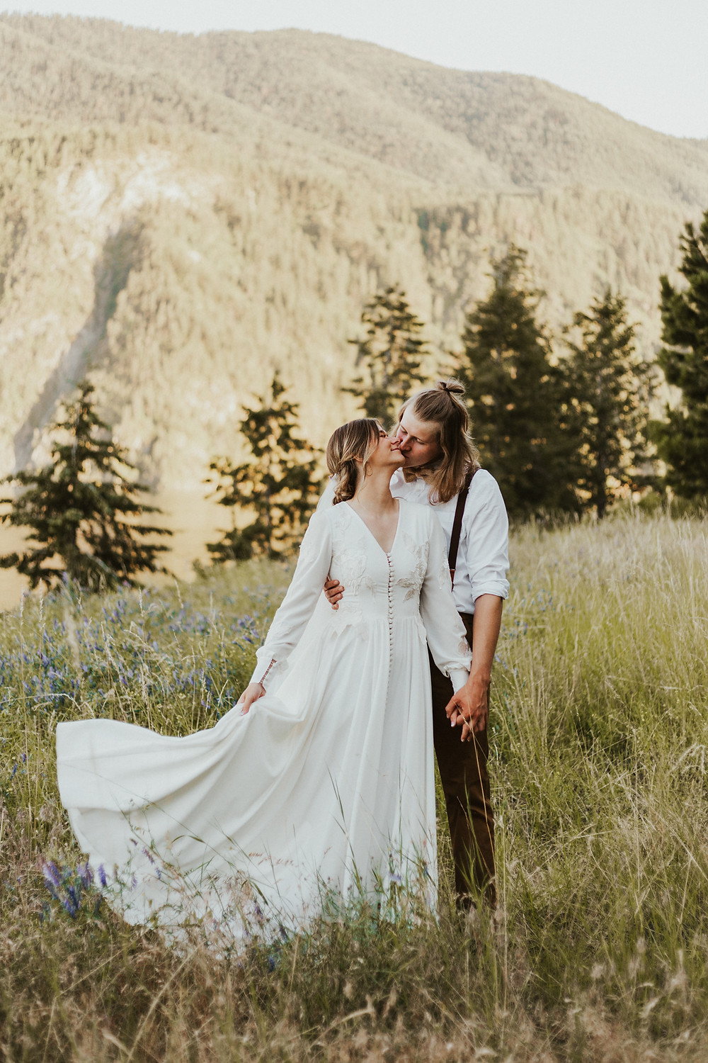 adventure bridals in the mountains of idaho