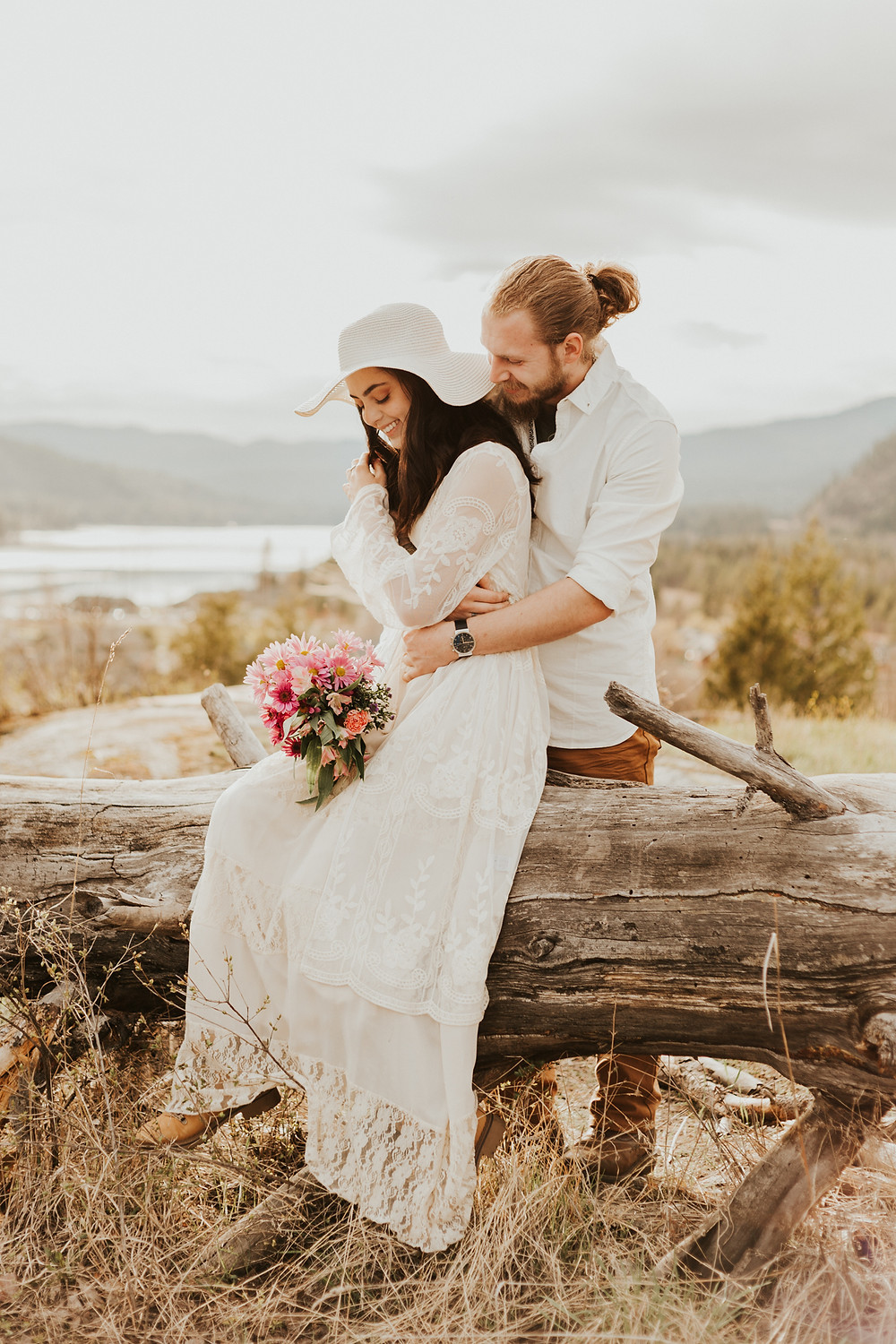 spring styled elopement photos in idaho