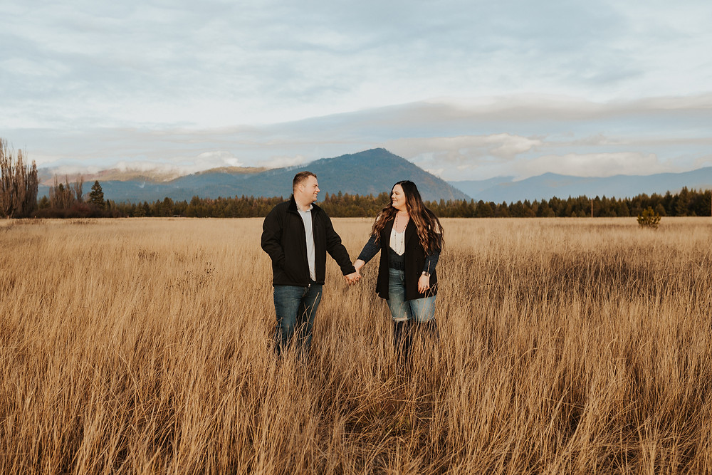 couples session in the mountains of idaho