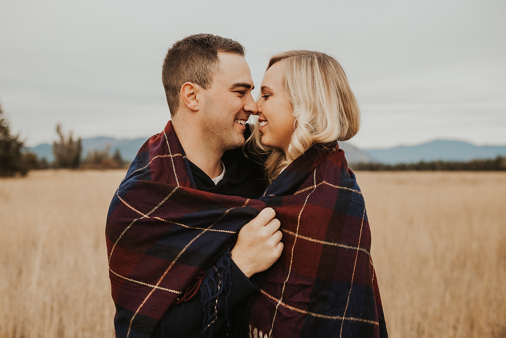 engagement session in the field