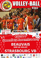 page couverture match 25 11 2017 VB Stra