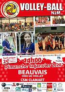 page couverture match 12 01 2020 Clamart