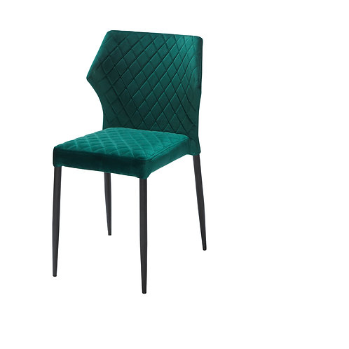 Louis Chair Velvet Green