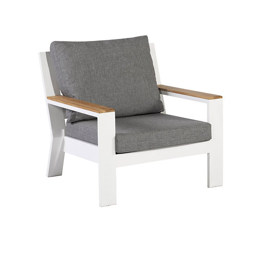 Valerie Lounge Armchair White