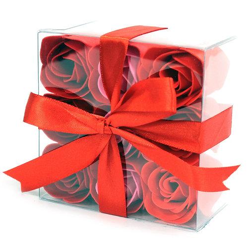 Set of 9 Soap Flowers - Rose Box