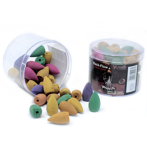 Tub of Assorted Back Flow Incense Cones (approx 45)