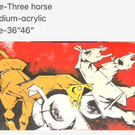 Three horse