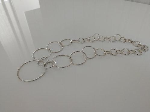 Sterling silver hoop chain