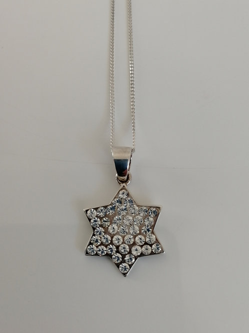 Sterling silver and CZ star pendant with a chain