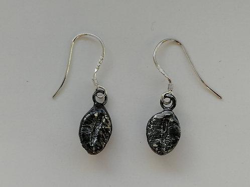 Sterling silver coffee bean earrings