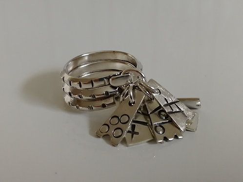Sterling silver ring, Latvian style