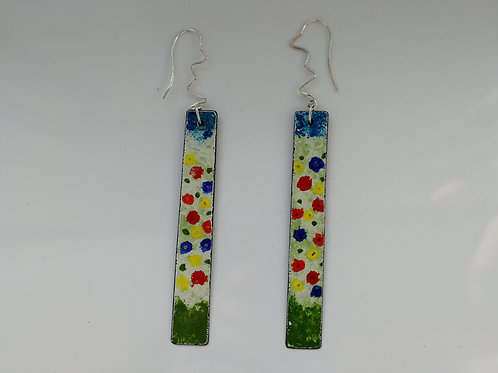 Long colourful earrings