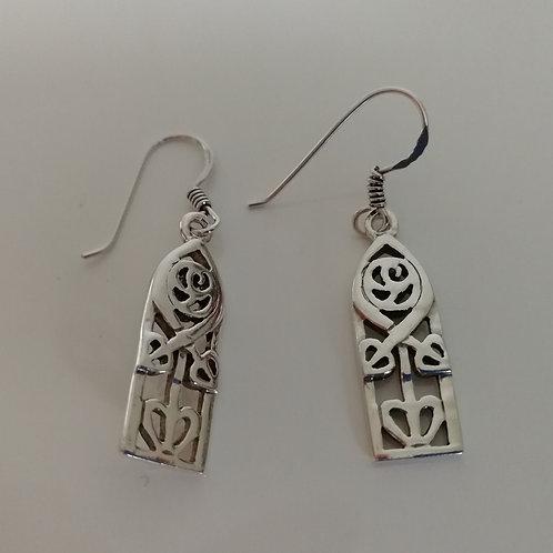 Rustic sterling silver earrings