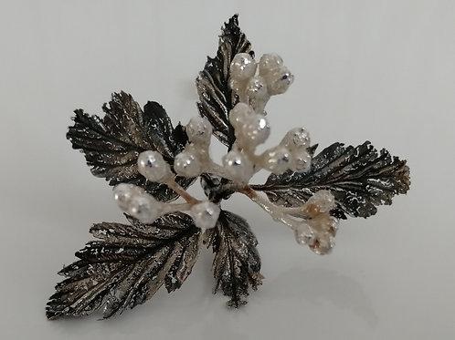 Sterling silver flower pin broach