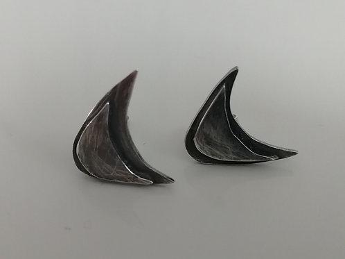 Blackened sterling silver stud earrings