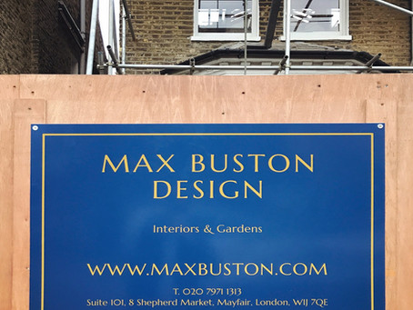Max Buston Design on-site in London