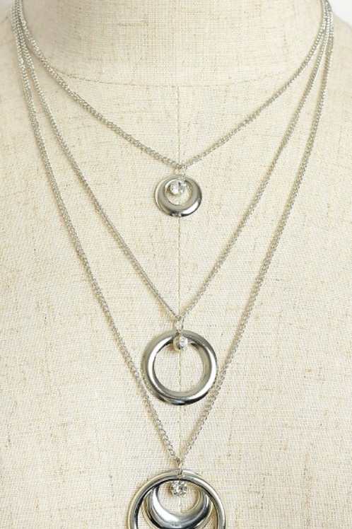 C/ Hoop Drop Layer Necklaces.